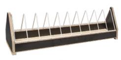 Voerbak: open met metalen gril 51,5x11x15 cm