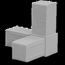 Buisverbinder hoekstuk 20x20x20 mm