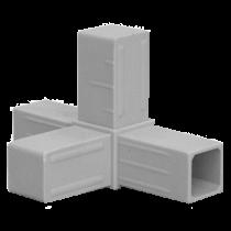 Buisverbinder 4-weg stuk 20x20x20x20 mm