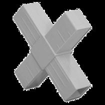 buisverbinder X-stuk 15x15x15x15 mm grijs