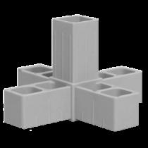 Buisverbinder 5-weg X-stuk 15x15x15x15x15 mm