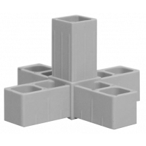 Buisverbinder 5-weg X-stuk 20x20x20X20x20 mm