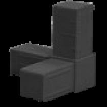 Buisverbinder hoekstuk 20x20x20 mm zwart