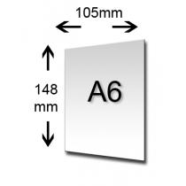 A6 kaarten voor metalen kaarthouder
