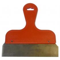 Afsteekmes  23 cm rood handvat