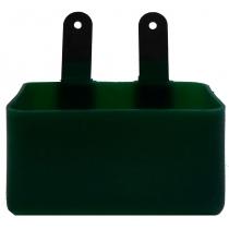 Weduwschapsbakje met metalen strip groen