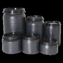 Vat bewaarton voor voer 18 liter grijs