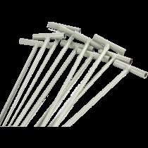 Dringer metaal 4.0x30 cm Creme
