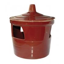 Drinkpot 1,5 liter steen geglazuurd terracotta