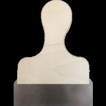 Afsteekmes 15 cm houten handvat