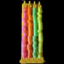 Ringenhouder met ringen 8/8 mm fluor kleuren