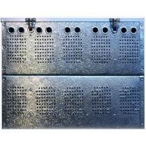 Duivenmand 10 vaks aluminium