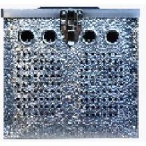 Duivenmand 2 vaks aluminium