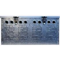 Duivenmand 5 vaks XL aluminium