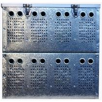 Duivenmand 8 vaks aluminium