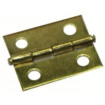 Duivenmand: scharnier voor klepje 18x15 mm vermessingd