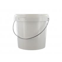 Emmer met deksel 5 liter wit