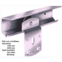 Rail voor schuifdeur 150 cm
