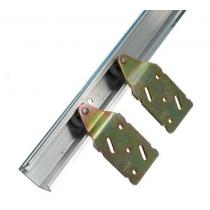 Rollenset voor schuifdeur met nylon wielen