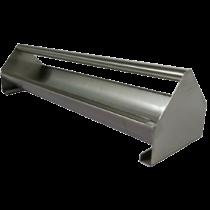 Voerbak: RVS open met rol 80 cm