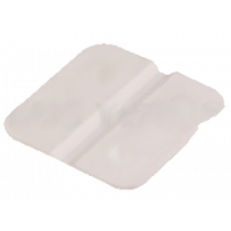 Scharnier 30x30 mm van kunststof wit 8 stuks