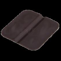 Scharnier 30x30 mm van kunststof zwart 8x
