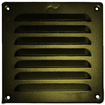 Schoepenrooster aluminium 155x155 mm antiek goud