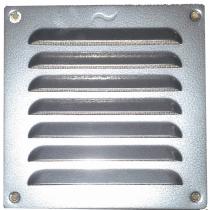 Schoepenrooster aluminium 155x155 mm antiek zilver