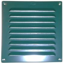 Schoepenrooster aluminium 155x155 mm groen