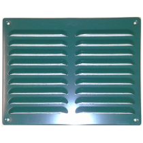 Schoepenrooster aluminium 245x195 mm groen. 2 rij