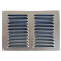 Schoepenrooster aluminium 300x300 mm 2 rij