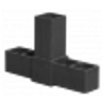 Buisverbinder T-stuk 15x15x15 mm zwart
