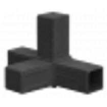 Buisverbinder 4-weg stuk 15x15x15x15 mm zwart