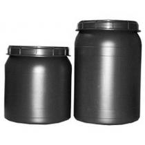 Vat bewaarton voor voer 25 liter grijs