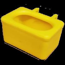 Voer water bakje, met ingegoten haken geel