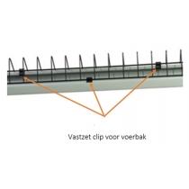 Voerbak: 3x clip voor vastzetten gril