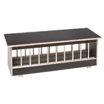Voerbak: hout met aluminium spijlen BP 153,5 cm
