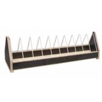 Voerbak: open met metalen gril152x13,5x18 cm