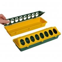 Voerbak: voor kuikens 30 cm groen/geel