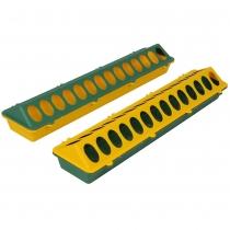 Voerbak: 50 cm groen/geel