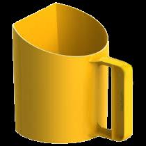 voerschep bekermodel geel