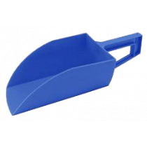 Voerschep liggend model blauw