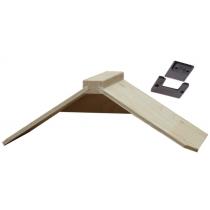 Zitje: 5 mm multiplex / hout XXL met clip